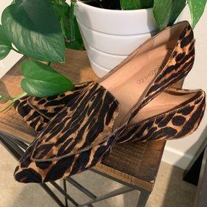 Madewell leopard calf hair flats